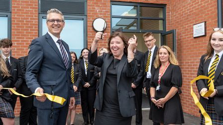 Dame Rachel de Souza - Childrens Commissioner for England visiting East Point Academy in Lowestoft t
