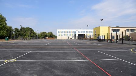 The new outdoor sports pitches at Ormiston Endeavour Academy in Ipswich