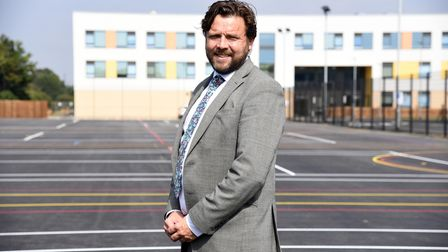 Ormiston Endeavour principal Jame Daniels outside the former Thurleston High School in Ipswich