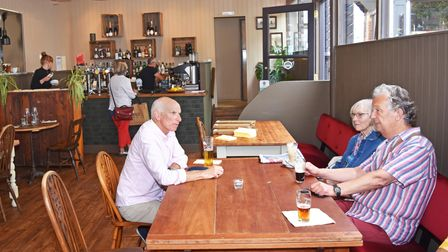 Customers enjoy the new venue known as Mark G at The Old Blue Anchor public house with dining