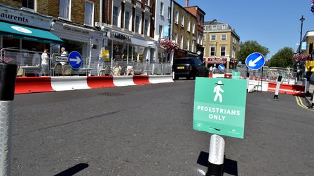 Al fresco dining areas, pavement widening and traffic restrictions on St John's Wood High Street