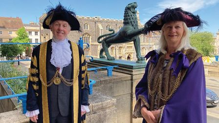 Kevin Maguire, Mayor of Norwich, and Caroline Jarrold, Sheriff