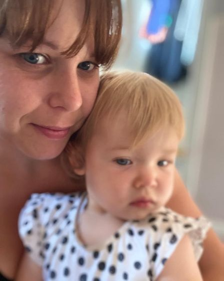 Jamie Finch with her daughter Penny