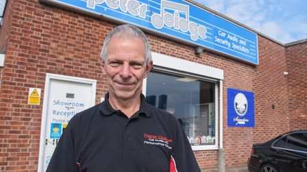 Peter Doidge, owner of Peter Doidge Car Audio and Performance Center on Southtown Road in Great Yarm