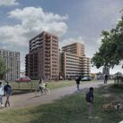 An artist's impression of how the flats would look on the former Office Outlet site in Stevenage