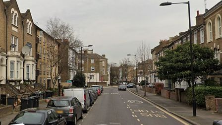 Cricketfield Road in Lower Clapton where the acid attack took place in 2019