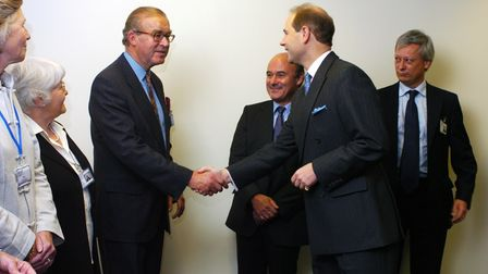 HRH The Earl of Wessex meeting Terry Mott and other directors and trustees