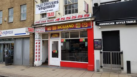 The Siciliano takeaway on Prince of Wales Road has been given a food hygiene rating of one. Picture:
