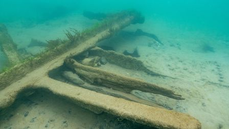 The wreck of the SS Commodore, which ran aground off Sheringham in1896.