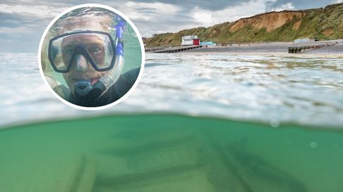Chris Taylor came across the wreck of the SS Commodore off Sheringham.