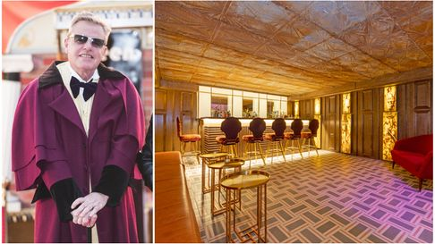 Suggs' old Camden home has an underground bar decorated in gold