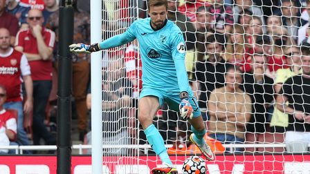 Tim Krul of Norwich in action during the Premier League match at the Emirates Stadium, LondonPictu