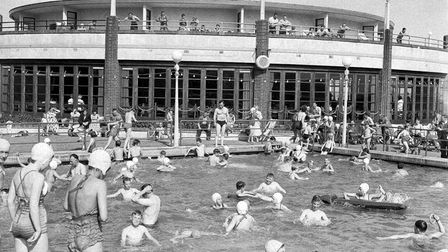 Swimmers of all ages were having a grand old time at Gorleston Lido in 1955.