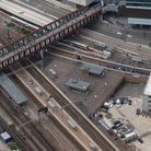 An aerial view of Stratford Station.