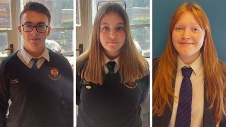 Among the students taking part in Aylsham High School's