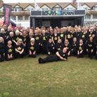 The South Devon Rock Choir appearing at the Torbay Airshow