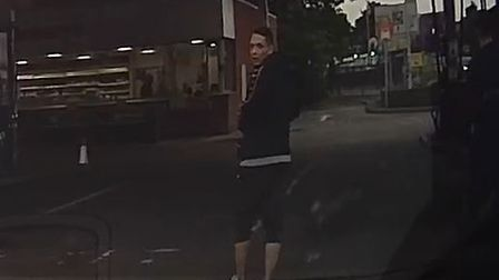 Police would like to speak to a male and female with regards to a theft from a motor vehicle in Ipswich