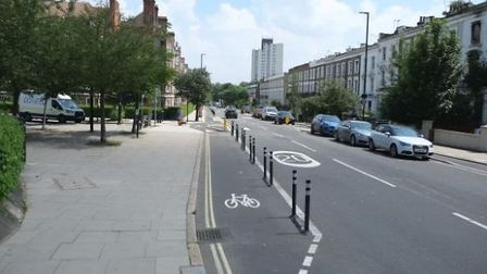 What the scheme in Prince of Wales Road currently looks like