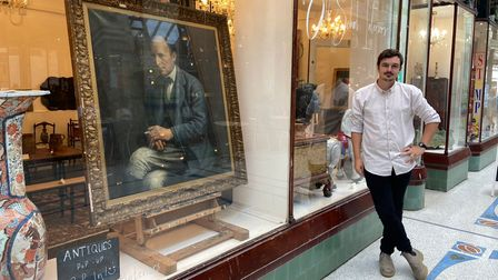 Oliver Kent outside his pop up shop in the Royal Arcade