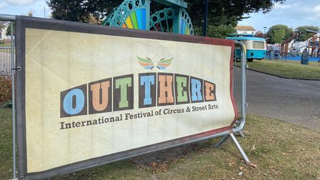Out There sign
