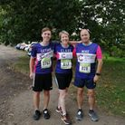 Clare Rogers from Melbourn Village College took part in the run alongside son Gethin and husband Mike