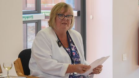 Madeline Ashcroft, Sheringham's former Mayor and current Norfolk County Councillor, gives a speech a