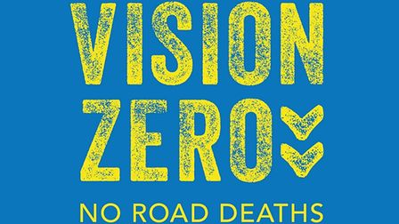 The Vision Zero logo aiming for no Essex road deaths
