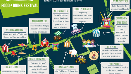 Enjoy St Albans Food and Drink Festival map.