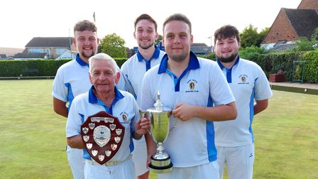 Johnny Wildman and his four grandsons were part of the victorious St Neots A team.