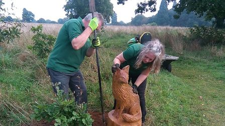 New sculptures being installed in Catton Park for a trail