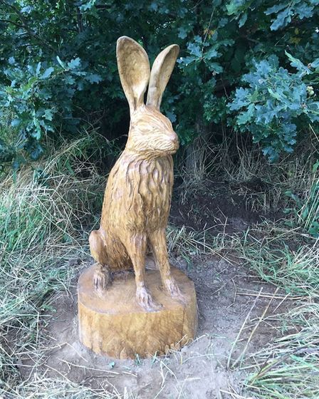People visiting Catton Park will see newly installed sculptures
