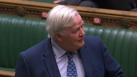 Bob Stewart in the House of Commons. Photograph: Parliament TV.