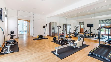 The property comes with a gym withmirrored wall
