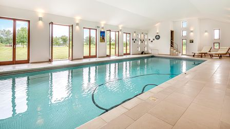 The property has an indoor swimming pool