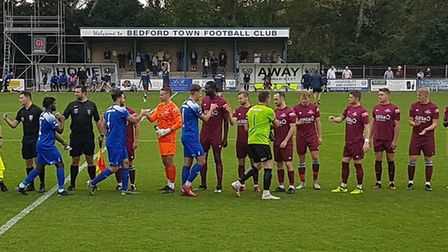 Welwyn Garden City won 3-1 away to Bedford Town in the FA Cup second qualifying round.