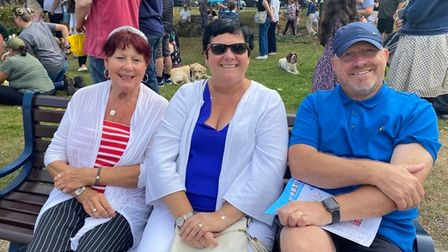 Patricia Lincoln, 77, Donna Wells, 54, and Raith Wells, 56, from Hopton
