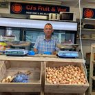 Paul Wiley, owner of the CJ's Fruit and Veg stall on Norwich Market