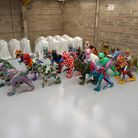 The GoGoDiscover dinos returned to the warehouse