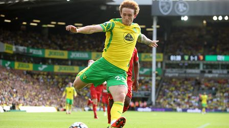 Josh Sargent of Norwich in action during the Premier League match at Carrow Road, NorwichPicture by