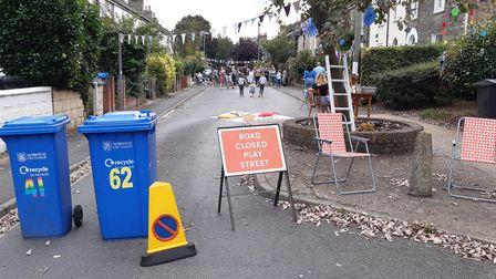 Alexandra Road in Norwich's Golden Triangle was closed for a street party to celebrate Norfolk's Car Free Day