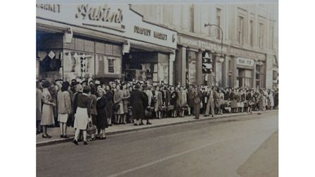 Flashback to queues outside store