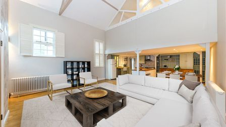 The living area is an impressive open plan space.