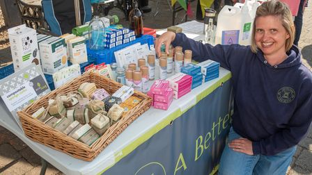 Laura Webster from the A Better Weight shop at Clevedon's Great Big Green Market.
