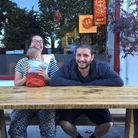 Partners and co-founders of My Neighbours The Dumplings,Kristian Leontiou and Becky Wharton.
