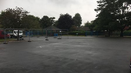 Renovation work is taking place at Falcon Junior School after flooding issues