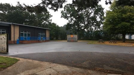 There has been very limited space for pupils to play outdoors at Falcon Junior School in Sprowston due to renovation work