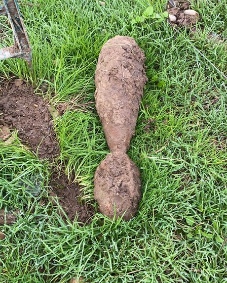 Police and the army's bomb disposal unit attended a farm in Roughton after an unexploded mortar shell was found.
