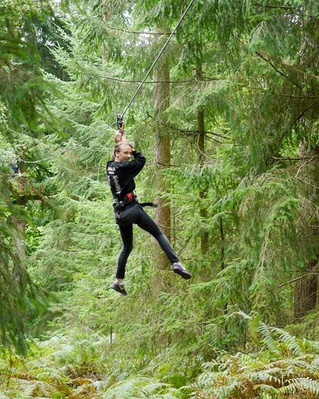 Young people at MAP got to swing through the trees at 'Go Ape'