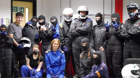 Young people from MAP on a go-karting activity.