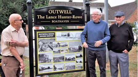 Phase three of the Wisbech to Upwell tram memorial was unveiled this month (September)